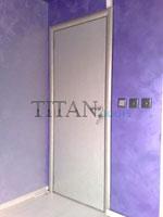 Бяла интериорна врата със заоблени кантове