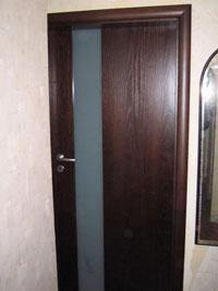Интериорна  врата, остъклена 3/3 триплекс