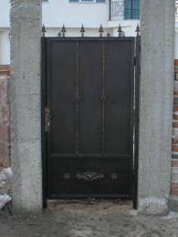 Плътна входна врата от ковано желязо