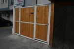 еднокрилна дървена порта
