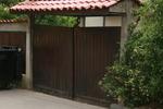 дървена порта по поръчка