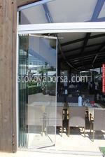 стъклена сгъваема врата