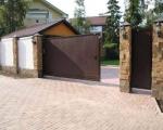 Метални врати за къщи на релса по поръчка