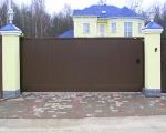 Метална врата за къщи - пързалящи