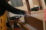 интериорна дървена врата по поръчка