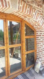 модерна плъзгаща дървена врата
