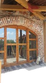 изработка на дървена плъзгаща врата