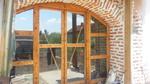 плъзгаща дървена врата по поръчка